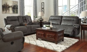 Austere Gray Power Reclining Living Room Set with Reclining Living Room Sets