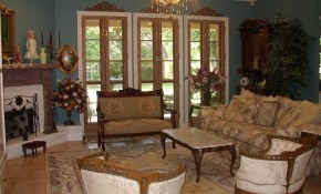 Awesome French Country Living Room Decor With Antique Sofa And throughout French Country Living Room Sets