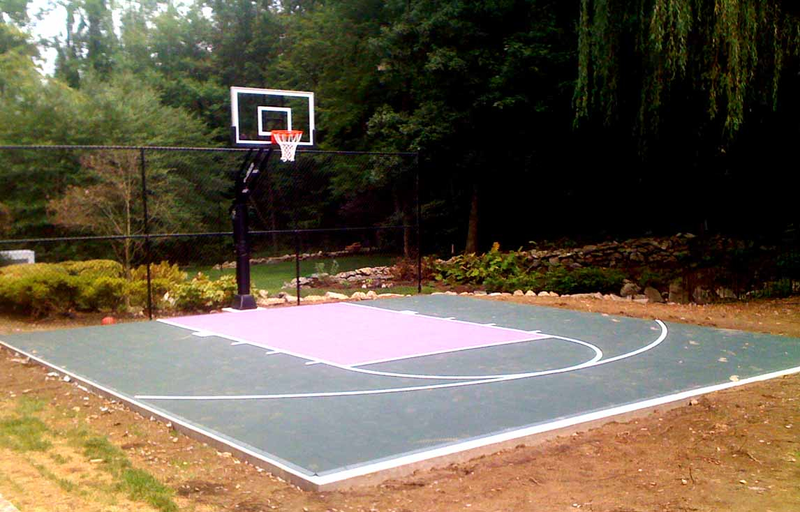 Backyard Basketball Court Layout Tips And Dimensions inside Backyard Basketball Court Ideas