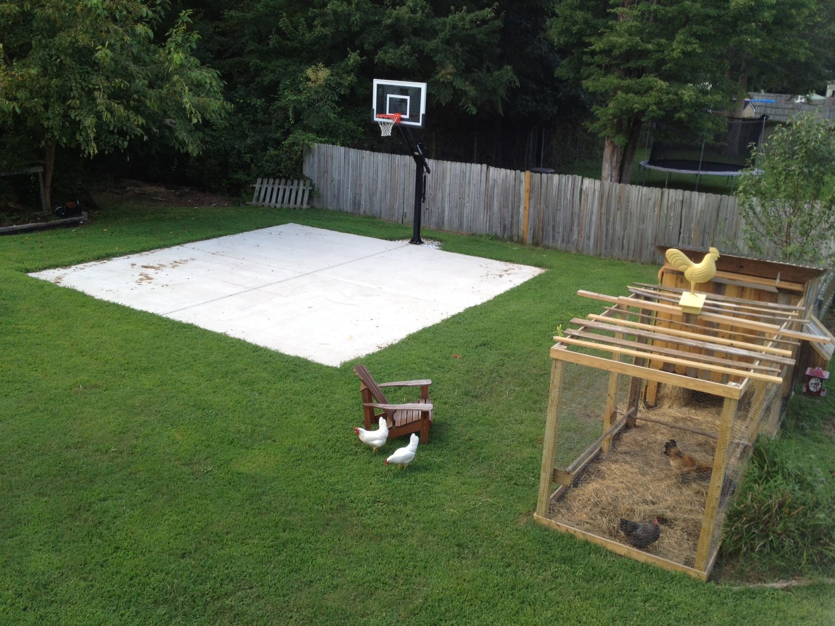Backyard Basketball On A Concrete Slab Well Done Basketball throughout 12 Smart Designs of How to Improve Backyard Basketball Court Ideas