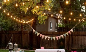 Backyard Birthday Fun Pink Hydrangeas Polka Dot Napkins within Diy Backyard Party Ideas