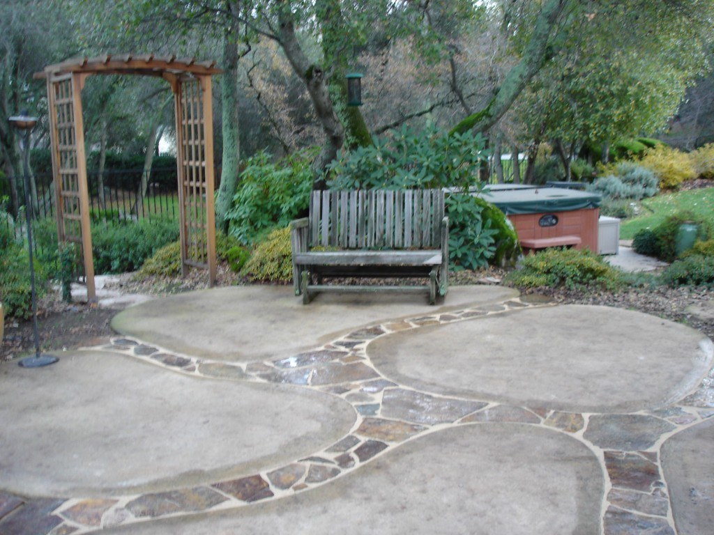 Backyard Cement Patio Ideas Backyard Stamped Concrete Patio Ideas intended for 12 Genius Ways How to Make Backyard Cement Ideas