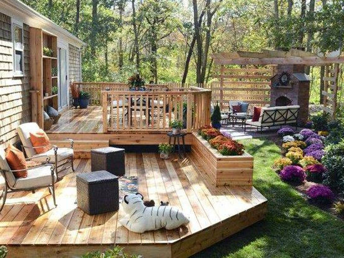 Backyard Deck Ideas Ground Level Air Home Products Easy And inside Simple Backyard Deck Ideas