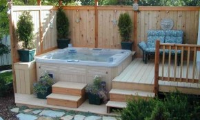 Backyard Ideas With Hot Tub Turismoestrategicoco pertaining to Backyard Spa Ideas