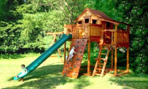 Backyard Playset Backyard Swing Set Ideas Outdoor Playsets For in Backyard Swing Set Ideas
