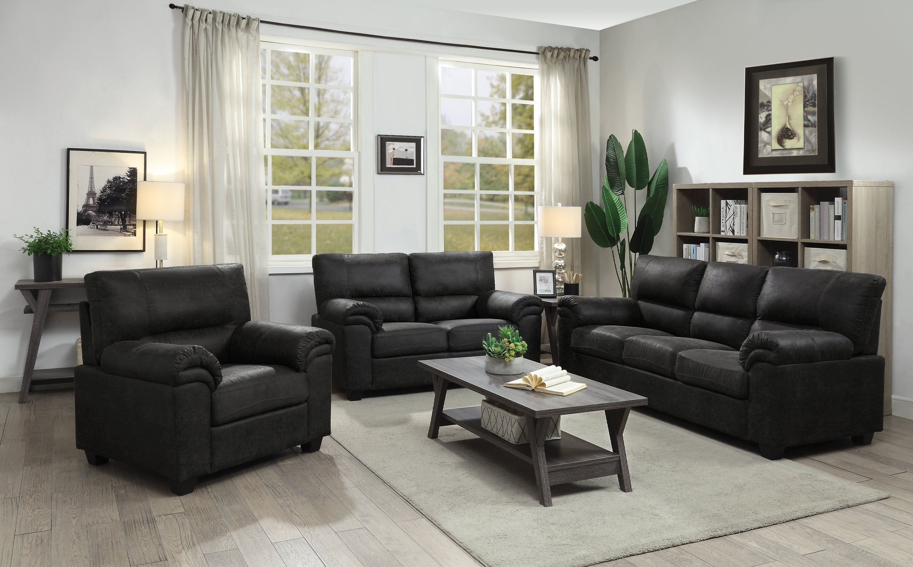 Ballard 2 Piece Living Room Set Black Coaster Fine Furniture for Cheap 2 Piece Living Room Sets