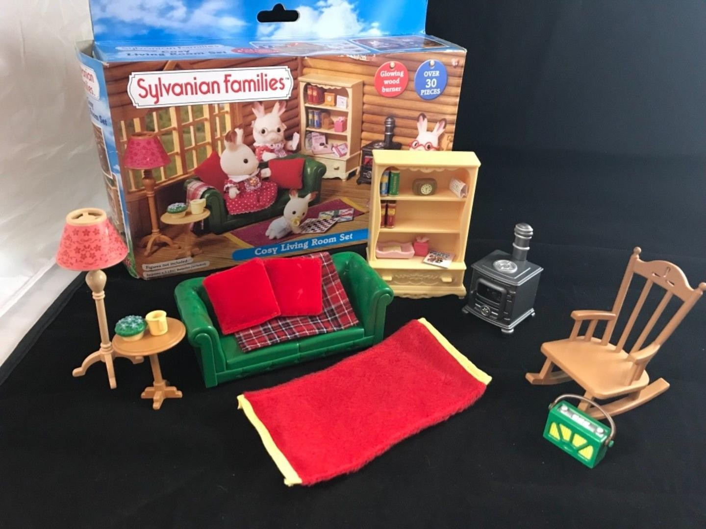 Calico Critters Sylvanian Families Cosy Living Room Set Rare Very intended for Sylvanian Families Cosy Living Room Set