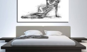 Canvas Art Bedroom Wall Decor Elegant Contemporary Abstract Canvas intended for 10 Some of the Coolest Designs of How to Makeover Modern Art Bedroom
