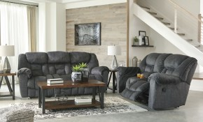 Capehorn Granite Reclining Living Room Set in Reclining Living Room Sets