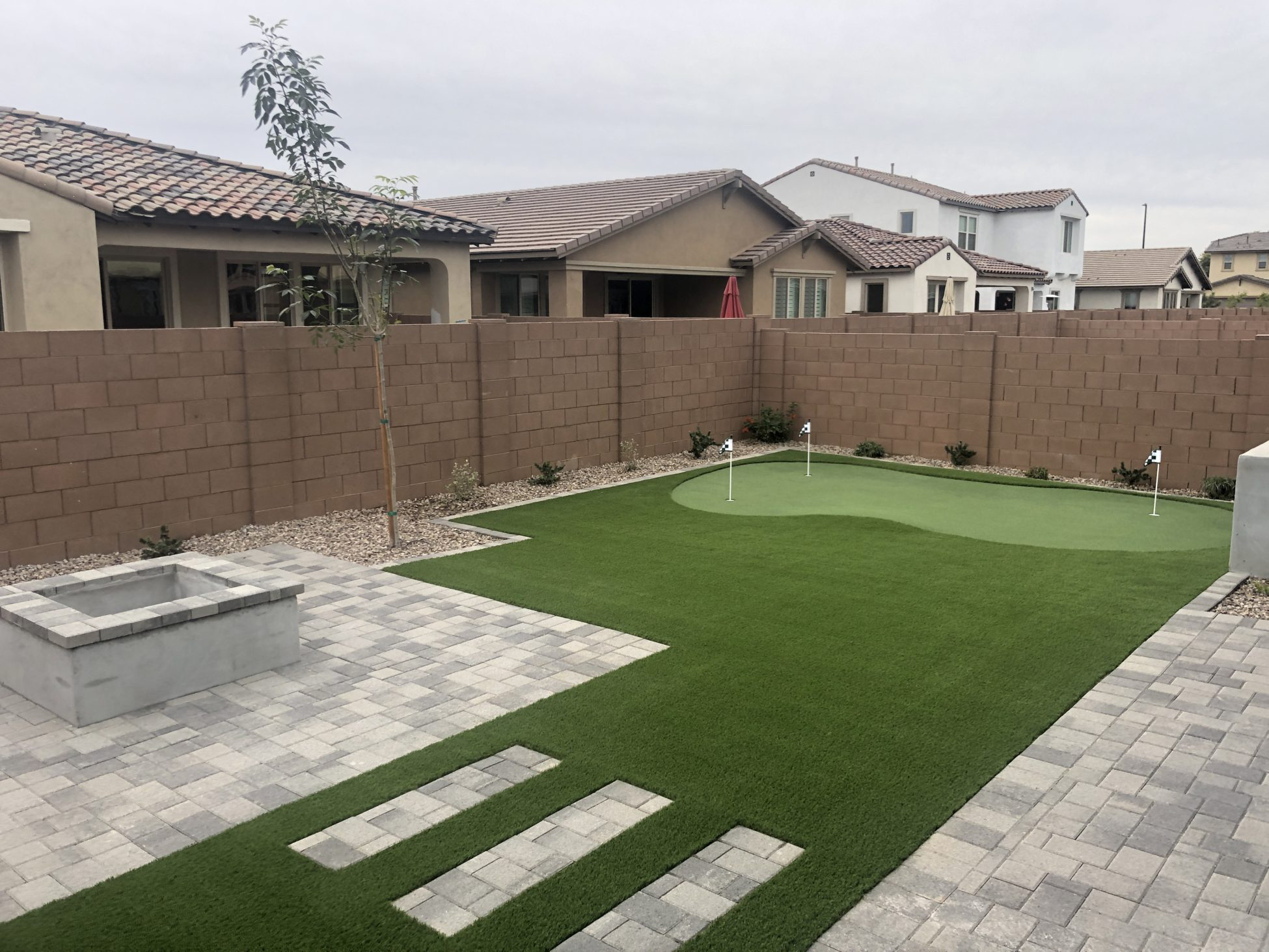 Check It Out Outdoor Putting Green In Arizona Backyard Landscape inside 12 Some of the Coolest Designs of How to Improve Backyard Landscaping Arizona