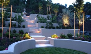 Concrete Sloped Backyard Landscaping Amazing Sloped Backyard inside 10 Smart Designs of How to Build Landscaping Sloped Backyard