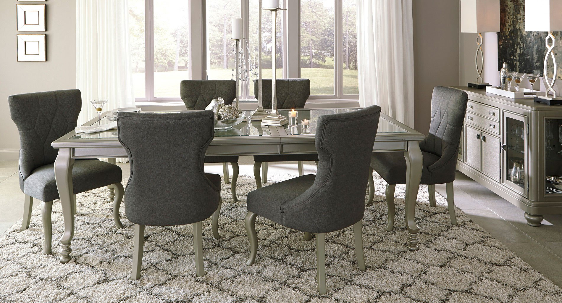 Coralayne Dining Room Set Signature Design Ashley 3 Reviews throughout 15 Clever Ways How to Make Dining And Living Room Sets