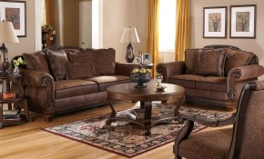 Cozy Living Room Furniture With Traditional Leather Sectional Sofa in Traditional Leather Living Room Sets