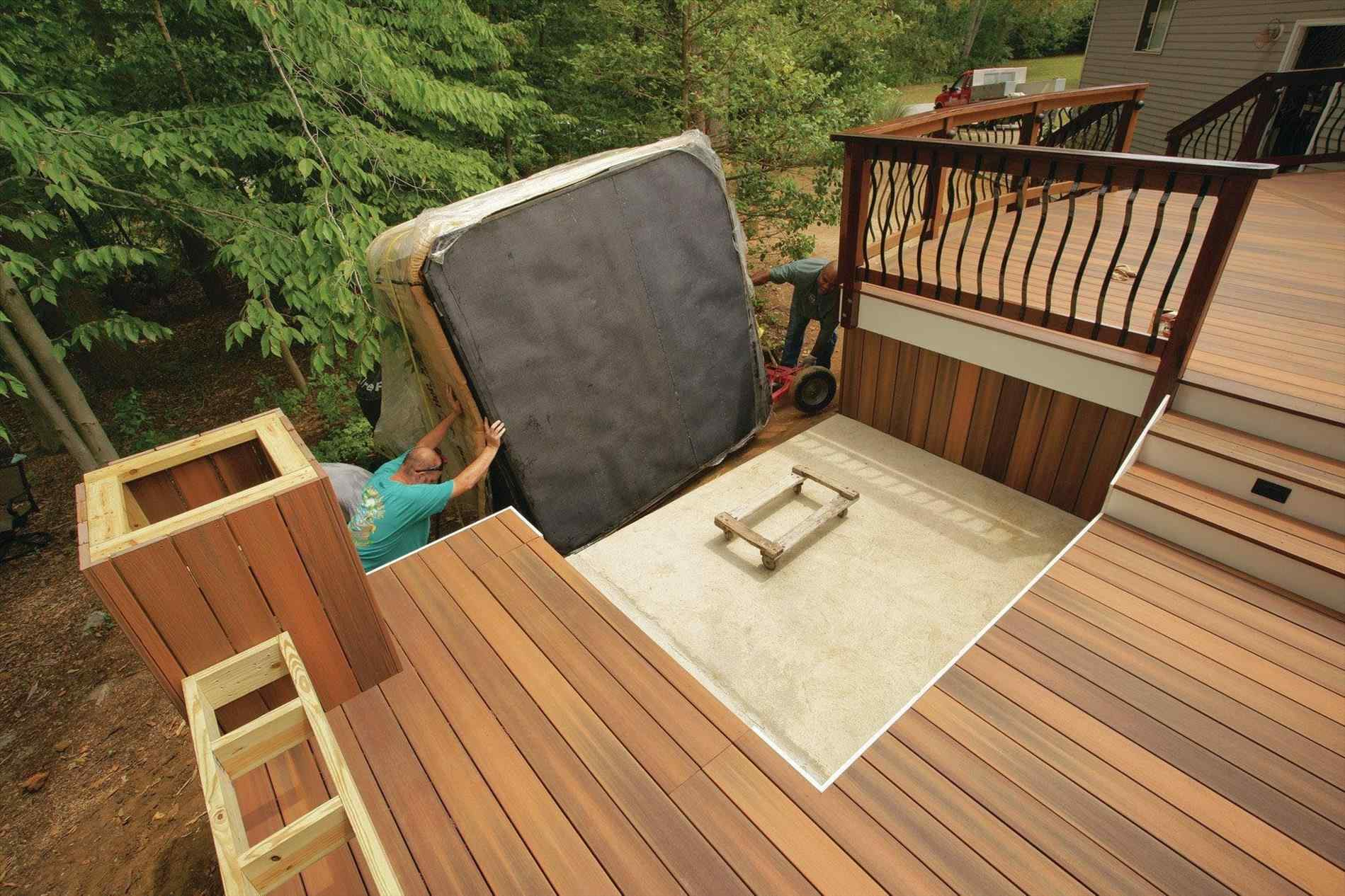 Deck Design For Hot Tub Support Decks Ideas regarding 13 Genius Concepts of How to Craft Backyard Deck Ideas With Hot Tub