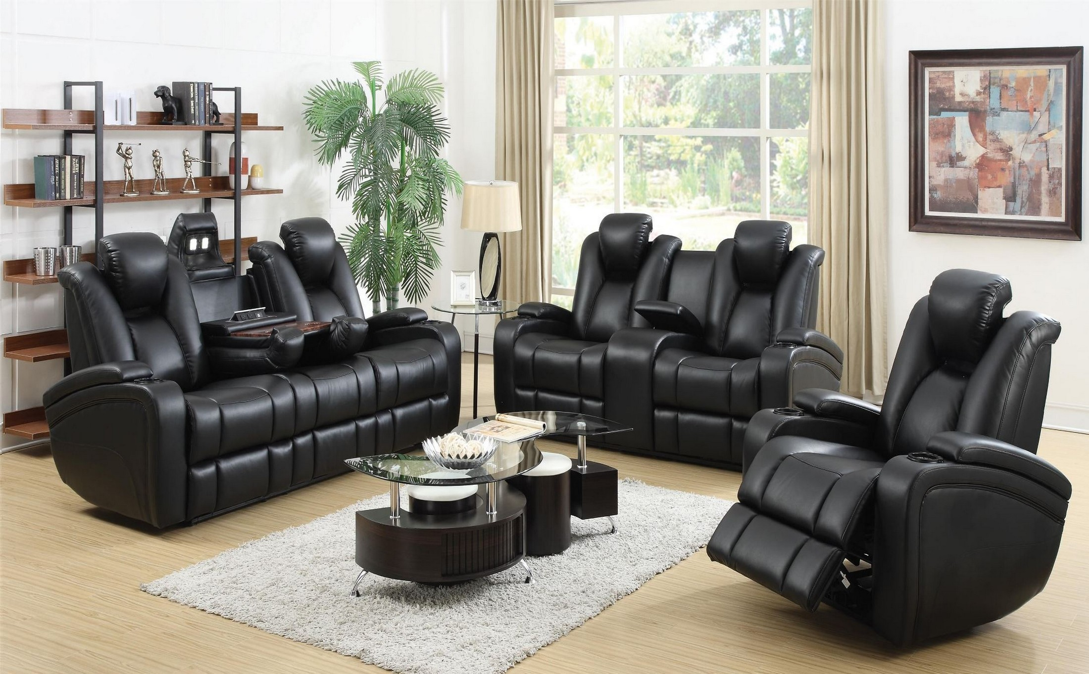 Delange Power Reclining Living Room Set From Coaster 601741p for Living Room Recliner Sets
