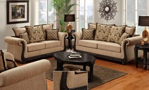 Delray Traditional Loveseat Chair Living Room Furniture Set Taupe with regard to 13 Clever Ways How to Upgrade Ebay Living Room Sets