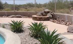 Desert Backyard Landscape Theme Swimming Pool Side Photo Garden In with Desert Backyard Landscaping Ideas