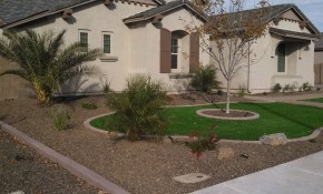 Desert Landscaping Ideas With Pavers And Artificial Turf Synthetic intended for Desert Landscape Ideas For Backyards