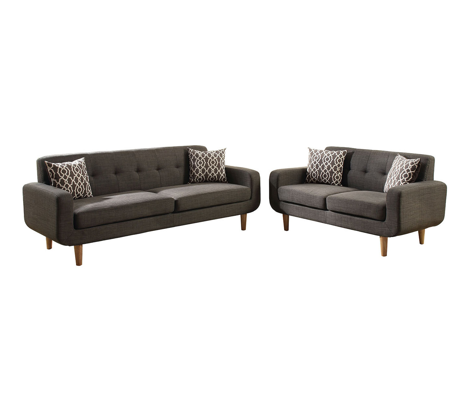 Donte Dorris Fabric 2 Piece Living Room Set Reviews Allmodern with Two Piece Living Room Set