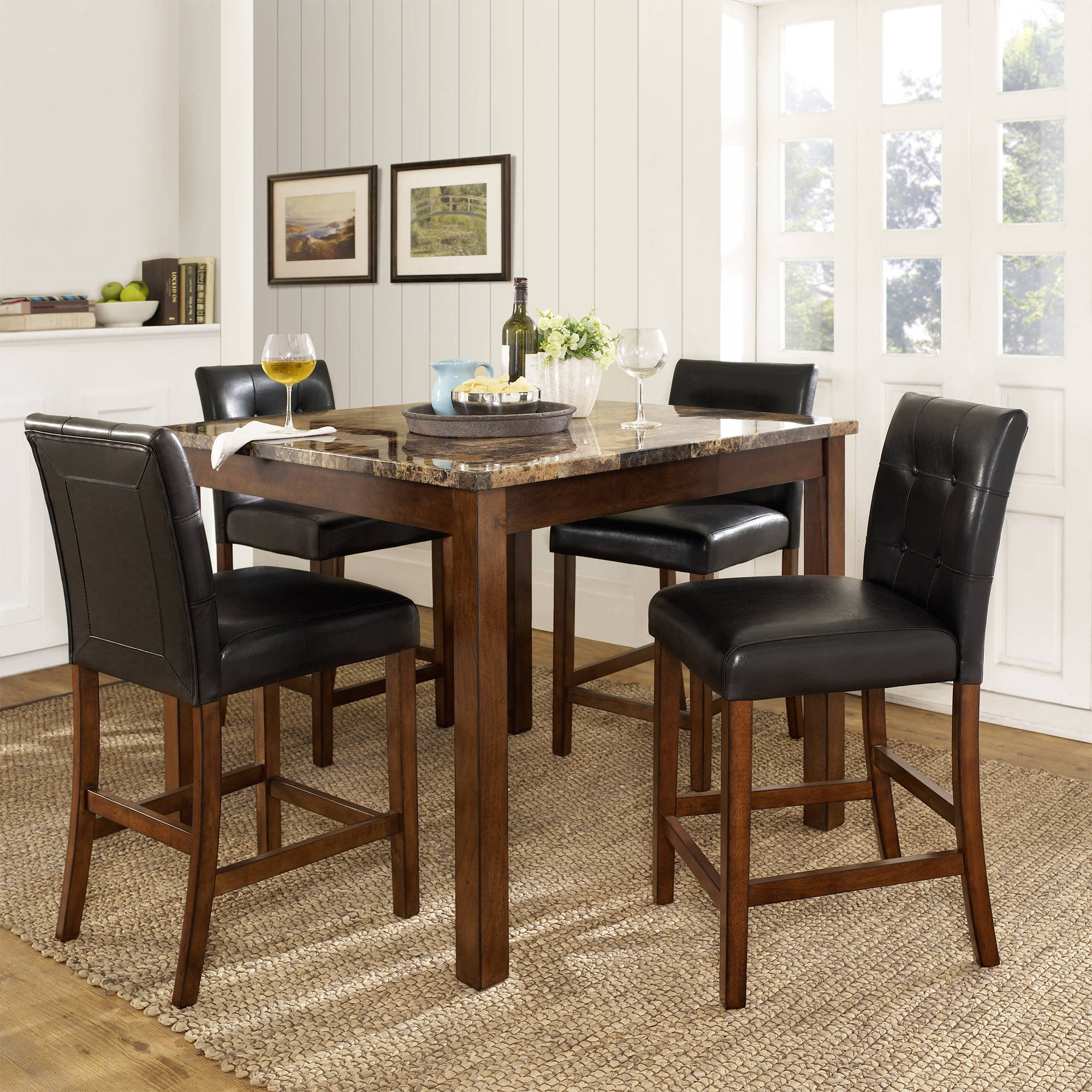 Dorel Living Andover 5 Piece Counter Height Dining Set Multiple Colors throughout Living Room Set Cheap