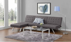 Emily Convertible Futon With Chaise Lounger Multiple Colors throughout 14 Awesome Designs of How to Craft Futon Living Room Sets