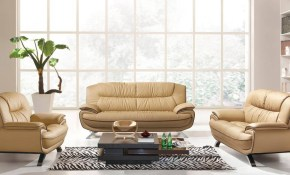 Esf 405 Modern Beige Chic Italian Leather Sofa Living Room Set 3pcs in 10 Clever Designs of How to Make Beige Leather Living Room Set