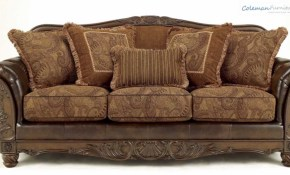 Fresco Durablend Antique Living Room Collection From Signature throughout Claremore Antique Living Room Set