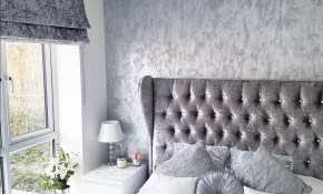 Grey Silver White Crushed Velvet Bedroom Modern Decor Inspo From in 15 Awesome Initiatives of How to Craft Gray Modern Bedroom