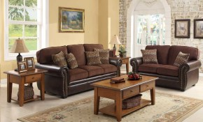 Homelegance Beckstead Living Room Set In Chocolate within 12 Awesome Concepts of How to Craft Chocolate Living Room Set