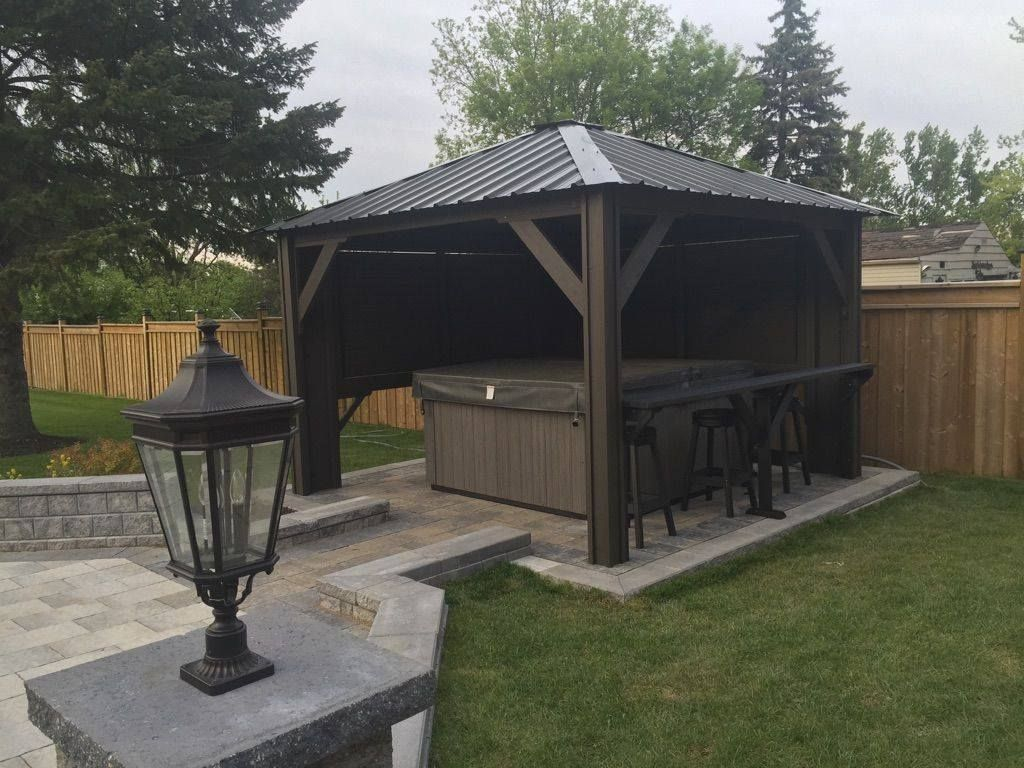 Hot Tub Gazebo Backyard Idea Spa Hot Tubs Hot Tub Backyard Hot with Hot Tub Backyard Ideas
