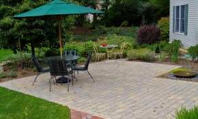 How Much Does A Paver Patio Cost Garden Design Inc inside How Much Does It Cost To Landscape A Backyard