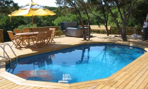 In Ground Pool Deck Ideas Best Swimming Neilmclean within Backyard Pool Deck Ideas
