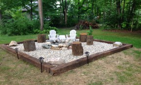 Inspiration For Backyard Fire Pit Designs Patio Designs Backyard for Backyard Landscaping With Fire Pit