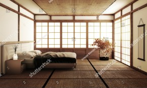 Interior Luxury Modern Japanese Style Bedroom Stock Illustration for 10 Some of the Coolest Designs of How to Improve Modern Japanese Bedroom