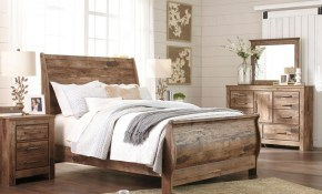 Laredo 5 Pieces Modern Cottage Brown Bedroom Set Furniture W Queen intended for Modern Sleigh Bedroom Sets