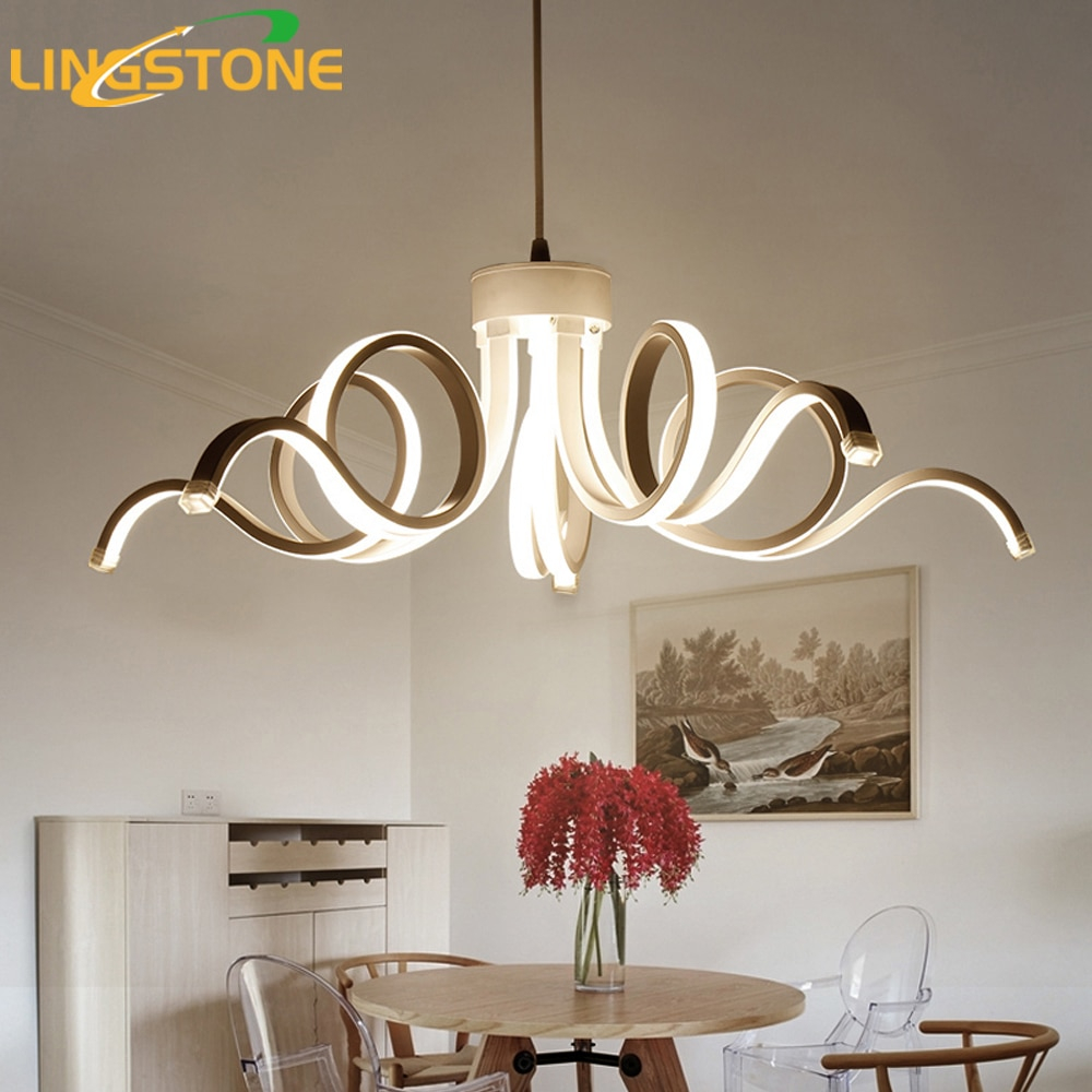 Led Modern Chandelier Lighting Novelty Lustre Lamparas Colgantes regarding 11 Some of the Coolest Designs of How to Craft Modern Chandeliers For Bedrooms