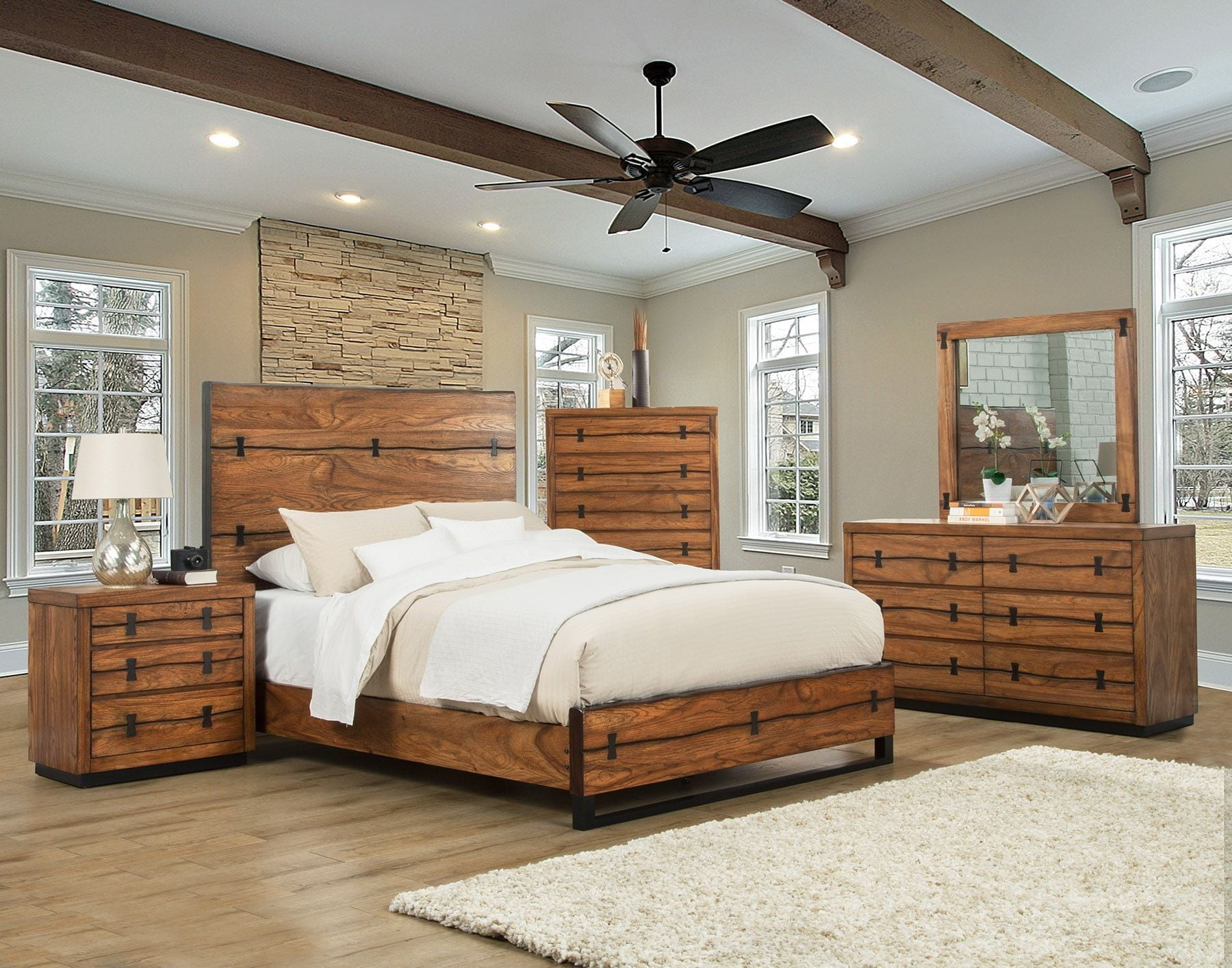 Live Edge Tobacco Panel Bedroom Set From Alpine Coleman Furniture with regard to 13 Smart Tricks of How to Upgrade Live Room Set