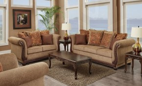 Living Room Set 3 Pc Balmoral Brown throughout 10 Clever Designs of How to Craft Three Piece Living Room Set