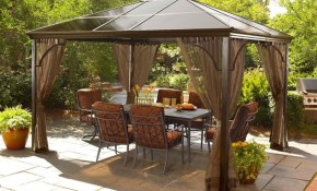 Lowes Backyard Ideas Find Out Full Gallery Of 13 Plus Patio Gazebo intended for Lowes Backyard Ideas
