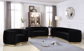Meridian Furniture Julian Black 3pc Living Room Set The Classy Home for 10 Awesome Ideas How to Improve Living Room Set For Cheap