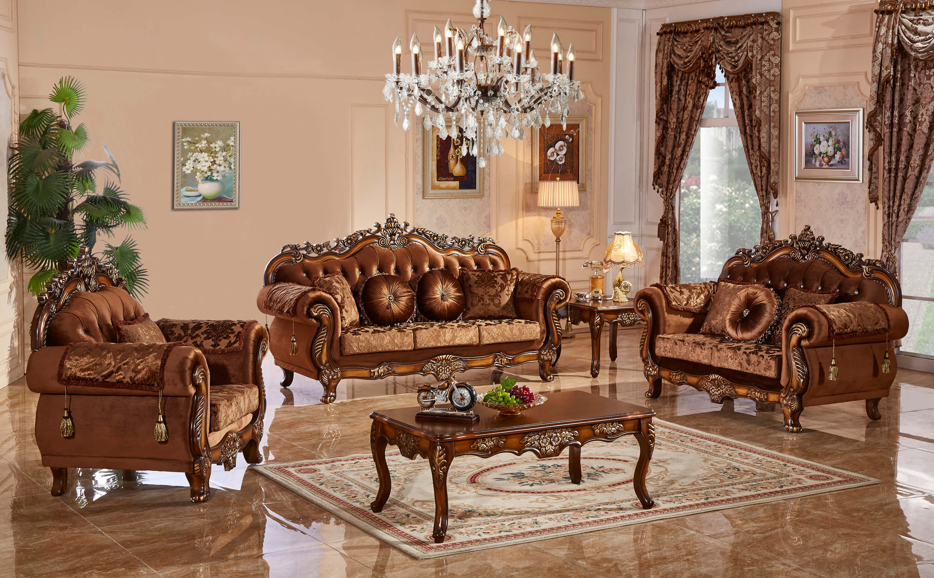 Meridian Furniture Living Room Collection Fabric Living Room Sets in Living Room Set Deals
