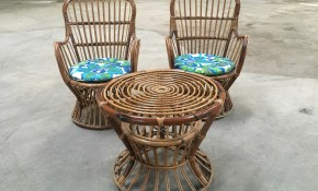 Midcentury Italian Bamboo And Rattan Living Room Set From 1950s For intended for 14 Awesome Concepts of How to Build Rattan Living Room Set
