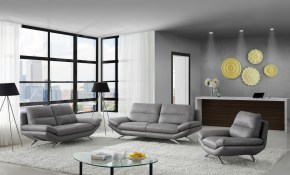 Milo Modern Living Room Set In Matt Grey Leather Creative Furniture in 14 Genius Concepts of How to Build Modern Living Room Sets
