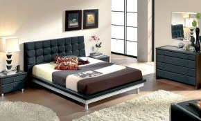 Modern Bedroom Set In Black Made In Spain 33b51 with Black Modern Bedroom Sets