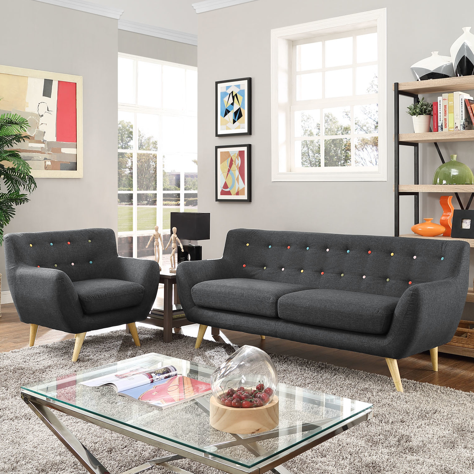 Modern Contemporary Living Room Furniture Allmodern throughout Living Room Sets