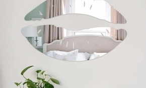 Modern Morning Kissing Lips Wall Mirror Stickers Bedroom Art Decals inside 10 Awesome Ideas How to Improve Modern Mirrors For Bedroom