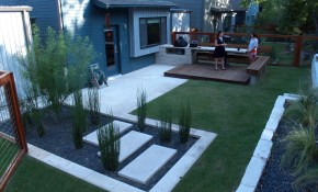 Modern Small Backyard Design With Kitchen Dining And Living Decor with 14 Some of the Coolest Concepts of How to Make Modern Backyard Landscaping