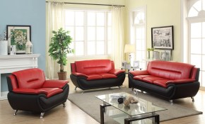 New 3 Pcs Contemporary Bonded Leather Sofa Set Living Room Set within 11 Clever Ways How to Build Living Room Set For Sale