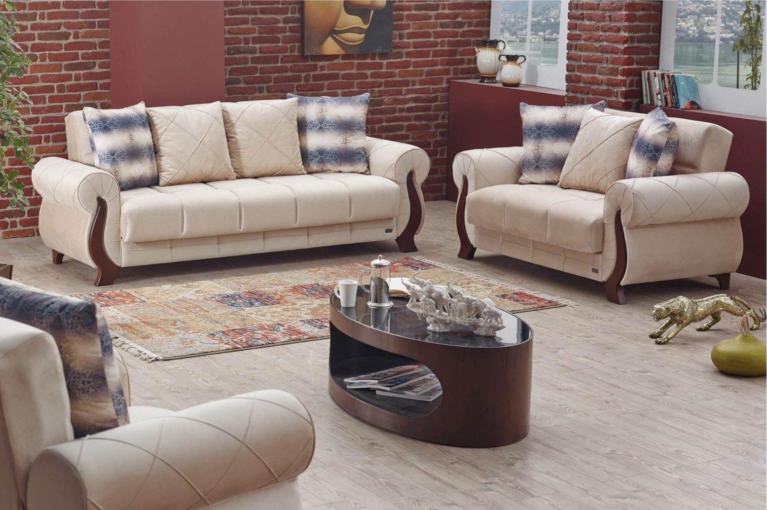 Ontario 2 Piece Living Room Set Buy Online At Best Price throughout Living Room Set On Sale