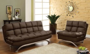 Orren Ellis Javier Futon 2 Piece Living Room Set Wayfair throughout 14 Awesome Designs of How to Craft Futon Living Room Sets